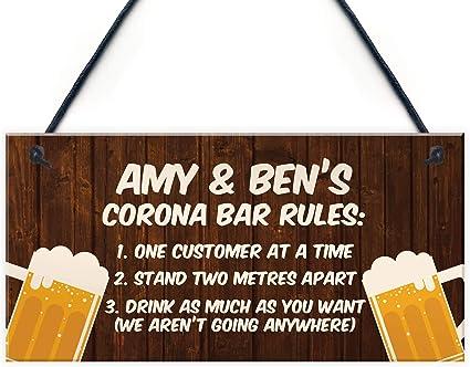 Personalised Bar Sign Garden Plaque Any Name Gift Bar Pub Backyard Bar Sign 50