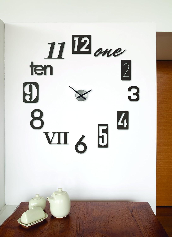 amazon com umbra numbra wall clock black home kitchen