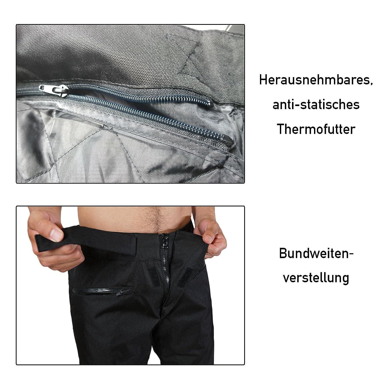 XXXL schwarz Easy Going Motorradhose Herren Sommer Winter Textilhose mit Protektoren Wasserdicht Leicht Stoff 3XL