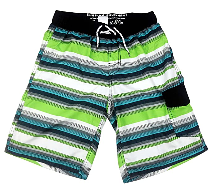 8b854abf2cb SLGADEN Boys Swim Trunks Elastic Waistband Comfortable Mesh Lined Sun  Protection Summer Teens Boxer Trunks 7
