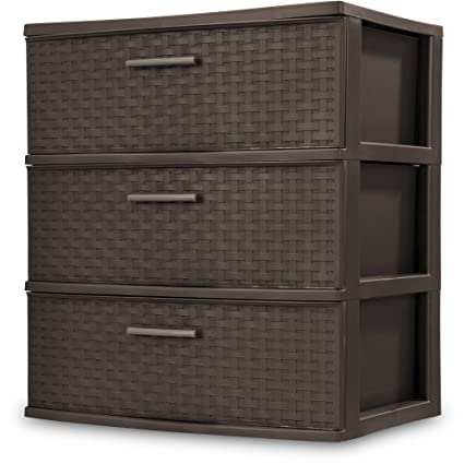 Charmant Sterilite 3 Drawer Plastic Concealed Decorative Home, Office Storage  Containers  Brown/Espresso