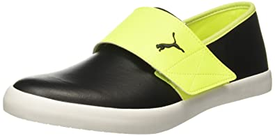 2af080d8f813d1 Puma Unisex El Rey Milano Ii Dp Safety Yellow-Black-Steel Gray Loafers -