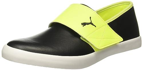 look for structural disablities top brands Puma Unisex El Rey Milano Ii Dp Safety Yellow-Black-Steel Gray Loafers