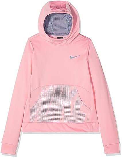Nike Therma Energy – Sudadera con Capucha niña, Niñas, Color Pink/Ashen Slate