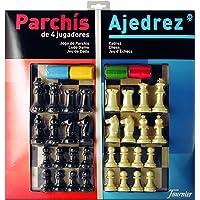 Fournier - Tablero Grande Parchís/Ajedrez y fichas, 40