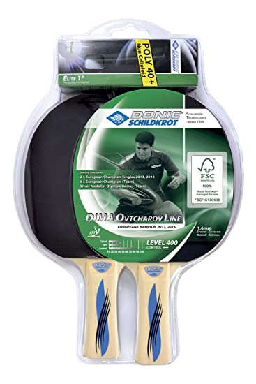 Donic-Schildkröt Ovtcharov 400 Set de Tenis de Mesa, 2 Raquetas de Madera FSC, 3 Pelotas Calidad 1 Estrella, en Blister, 788469: Amazon.es: Deportes y aire ...