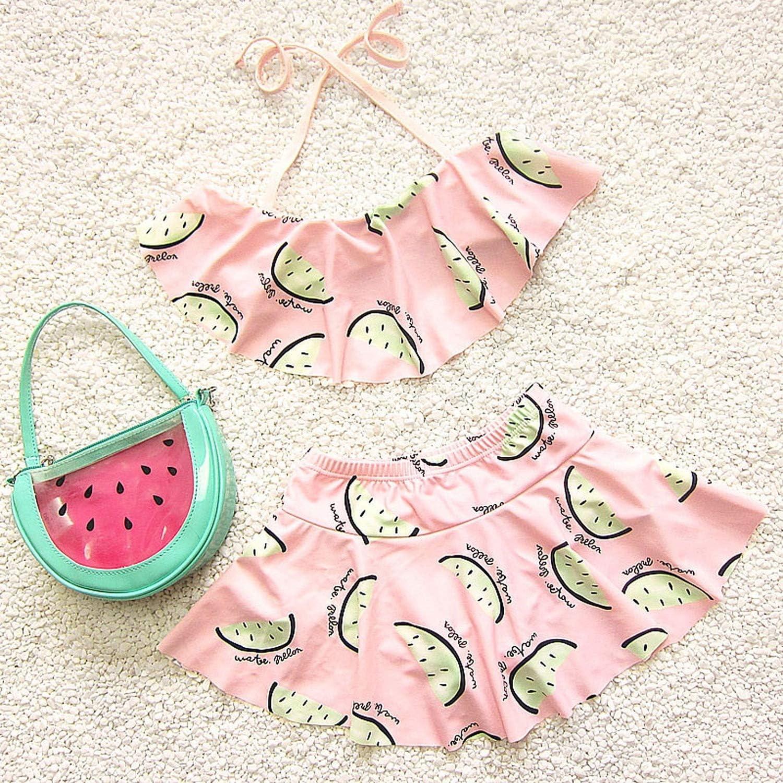 Girls Swimwear Kids Girls Two Pieces Swimsuit Girls Swimwear Bathing Beachwear Split Suit