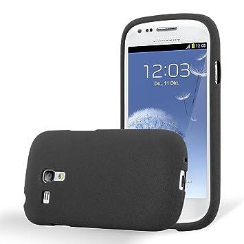 Cadorabo Funda para Samsung Galaxy S3 Mini en Frost Negro - Cubierta Proteccíon de Silicona TPU Delgada e Flexible con Antichoque - Gel Case Cover ...