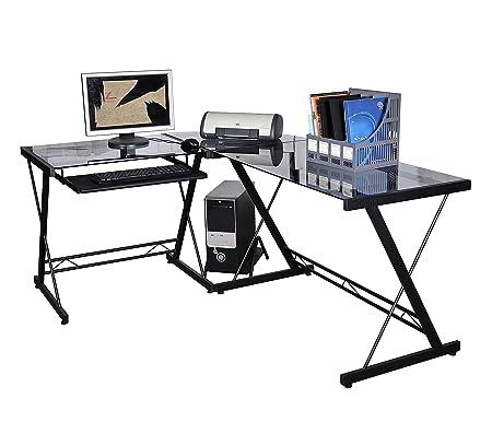 Scrivania Ad Angolo Per Computer.Outsunny Scrivania Ad Angolo Per Computer Scrivania Da Ufficio