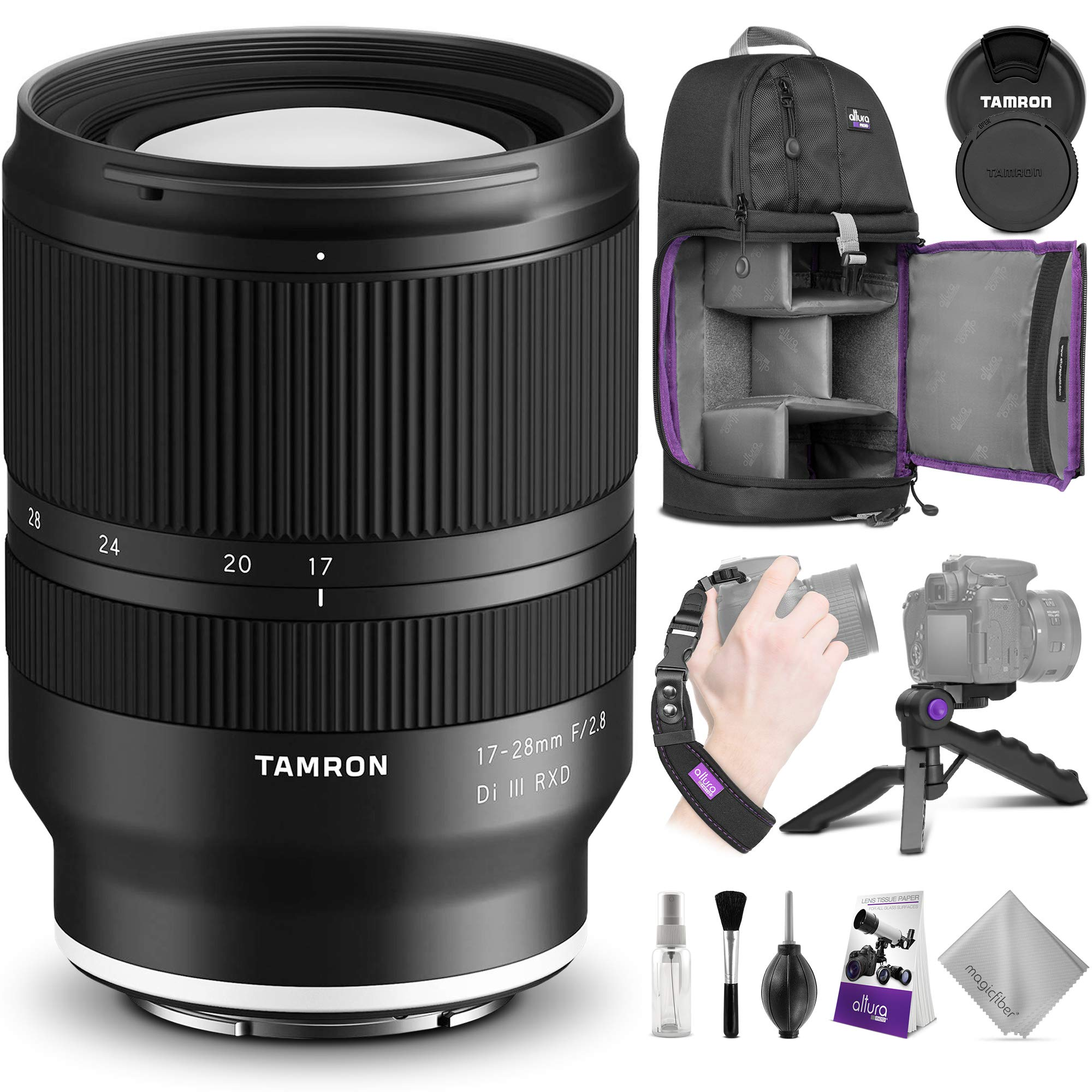Tamron 17-28mm f/2.8 Di III RXD Lens for Sony E w/Advanced Photo & Travel Bundle by Tamron