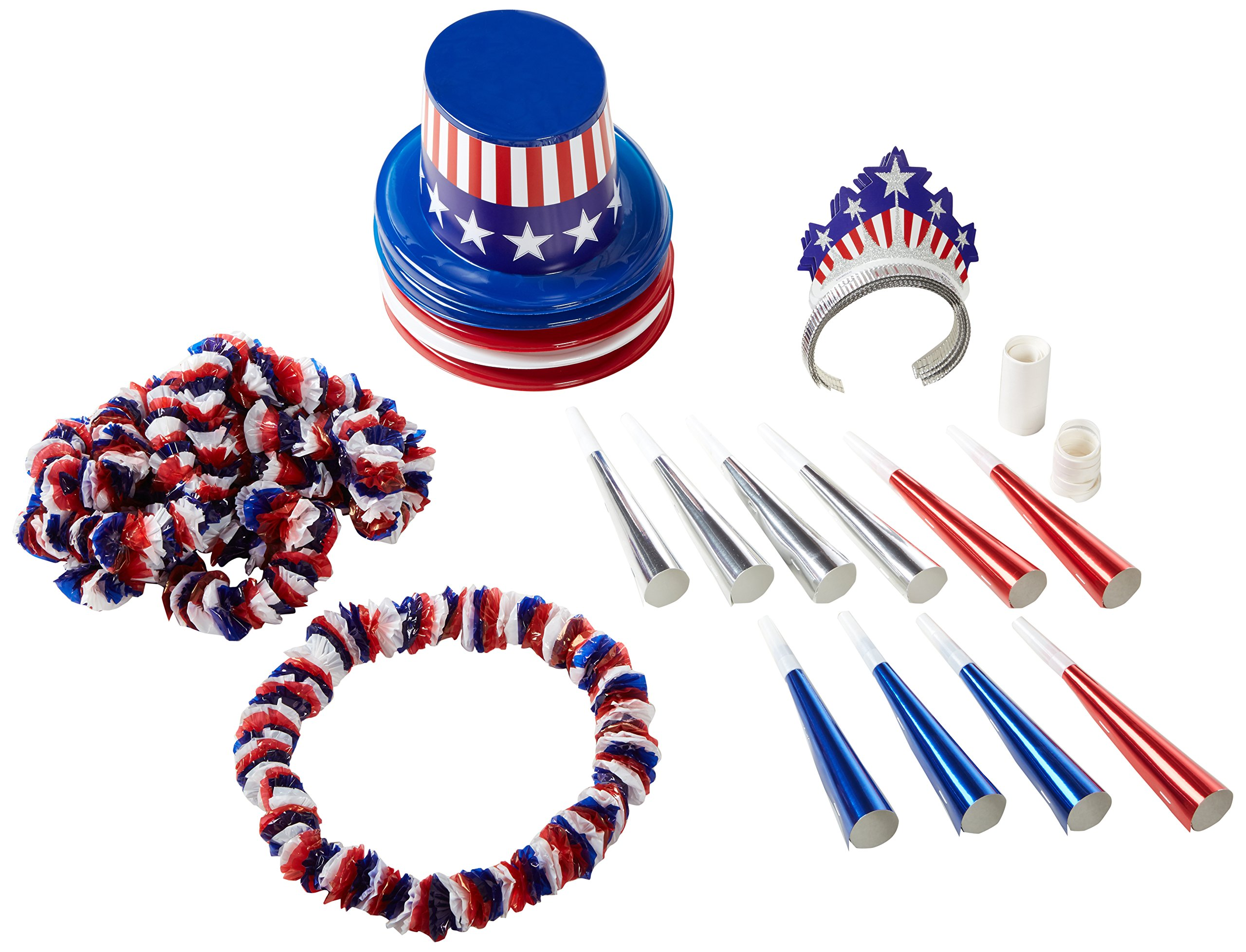 Spirit Of America Clear-View Asst for 10 Party Accessory (1 count) by Beistle
