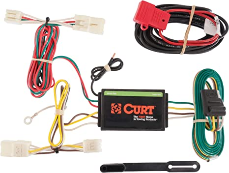 1985 toyota 22re wiring harness amazon com curt 56165 vehicle side custom 4 pin trailer wiring  amazon com curt 56165 vehicle side