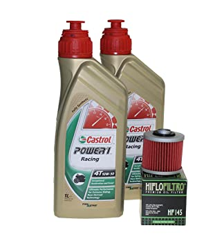 Cambio de aceite Set 2 litros Castrol SAE 10 W de 50 Power 1 Racing 4T