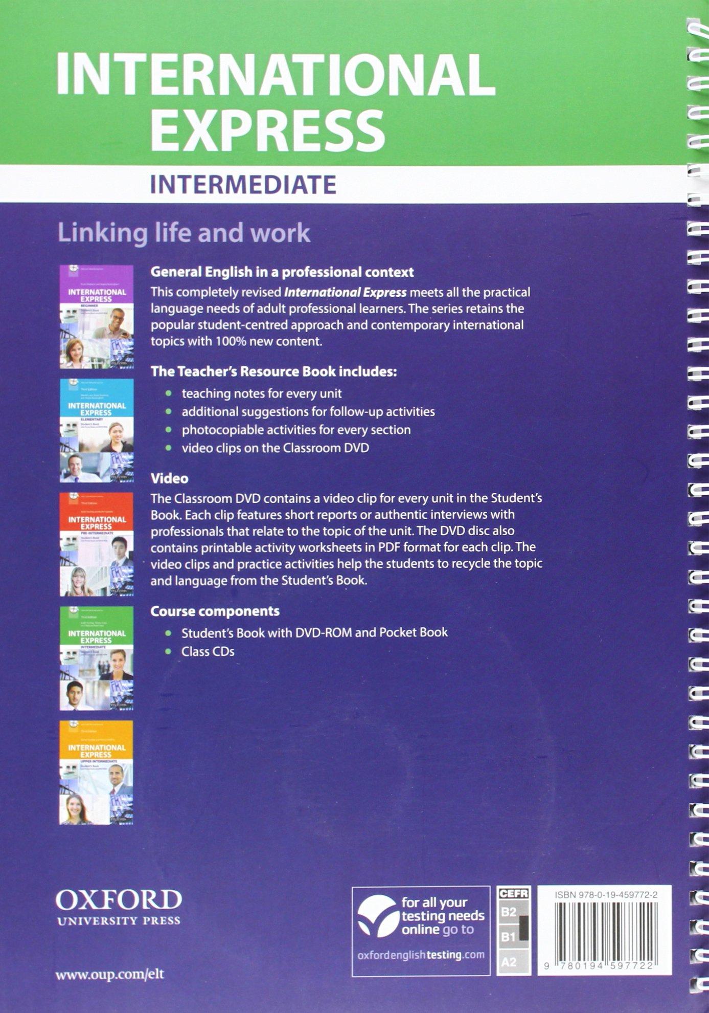 International Express: Intermediate: Teacher's Resource Book with DVD: NA:  9780194597722: Amazon.com: Books
