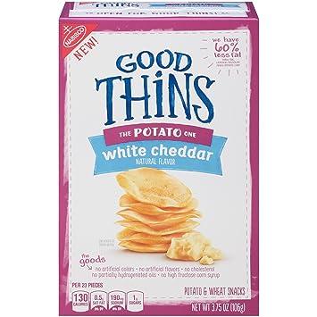 amazon com good thins the potato one white cheddar crackers