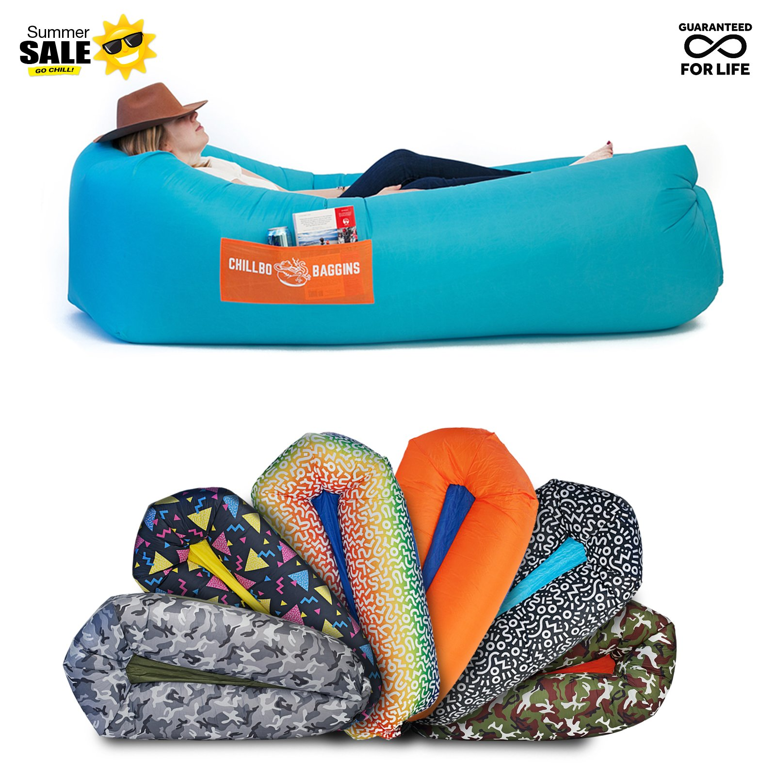 CHILLBO SHWAGGINS Baggins Best Inflatable Lounger Hammock Air Sofa And Pool  Float Ships Fast! IDEAL OUTDOOR GIFT Air Lounger For Indoor Or Outdoor Use  Or ...