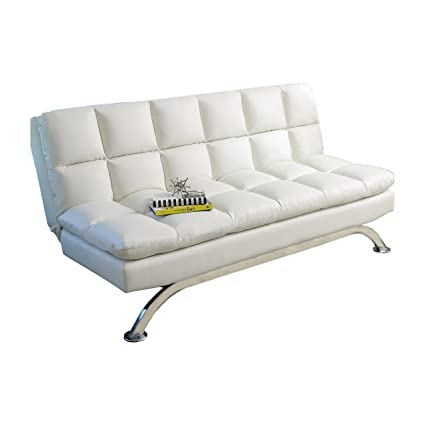 Incredible Amazon Com Abbyson Danube Sofa Bed Twin Full White Caraccident5 Cool Chair Designs And Ideas Caraccident5Info