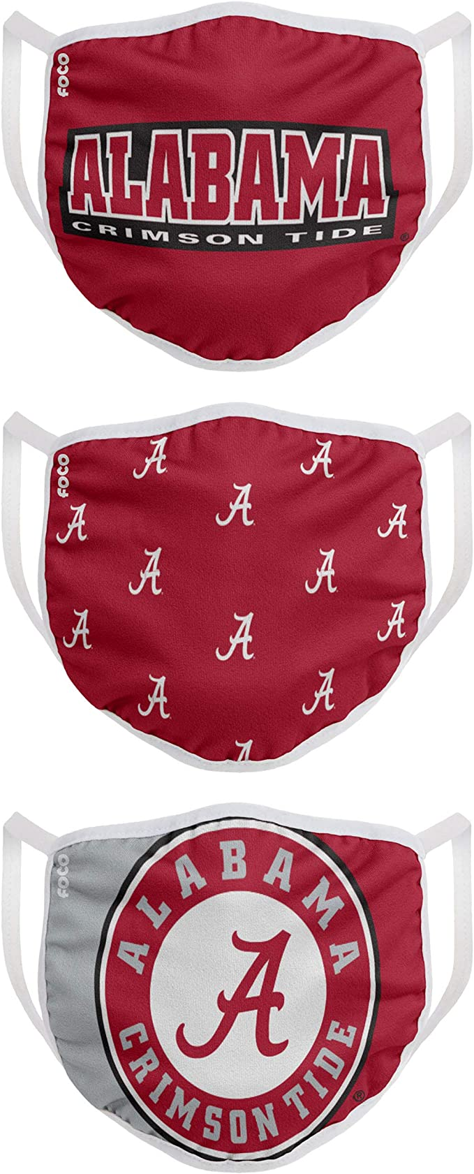 FOCO NCAA Unisex-Adult NCAA College Team Logo Reusable Washable Fashion Cloth