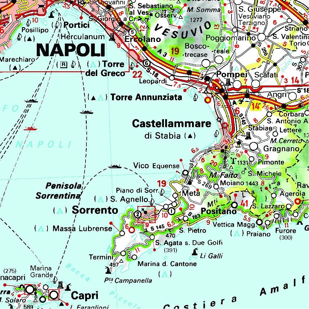 Cartina Francia Sud Dettagliata.Amazon It Carta Stradale Italia Sud Map Aa Vv Libri