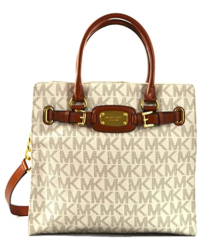 6109f664e385 Amazon.com  Michael Kors Hamilton - Large - PVC (Vanilla) TOTE  Shoes