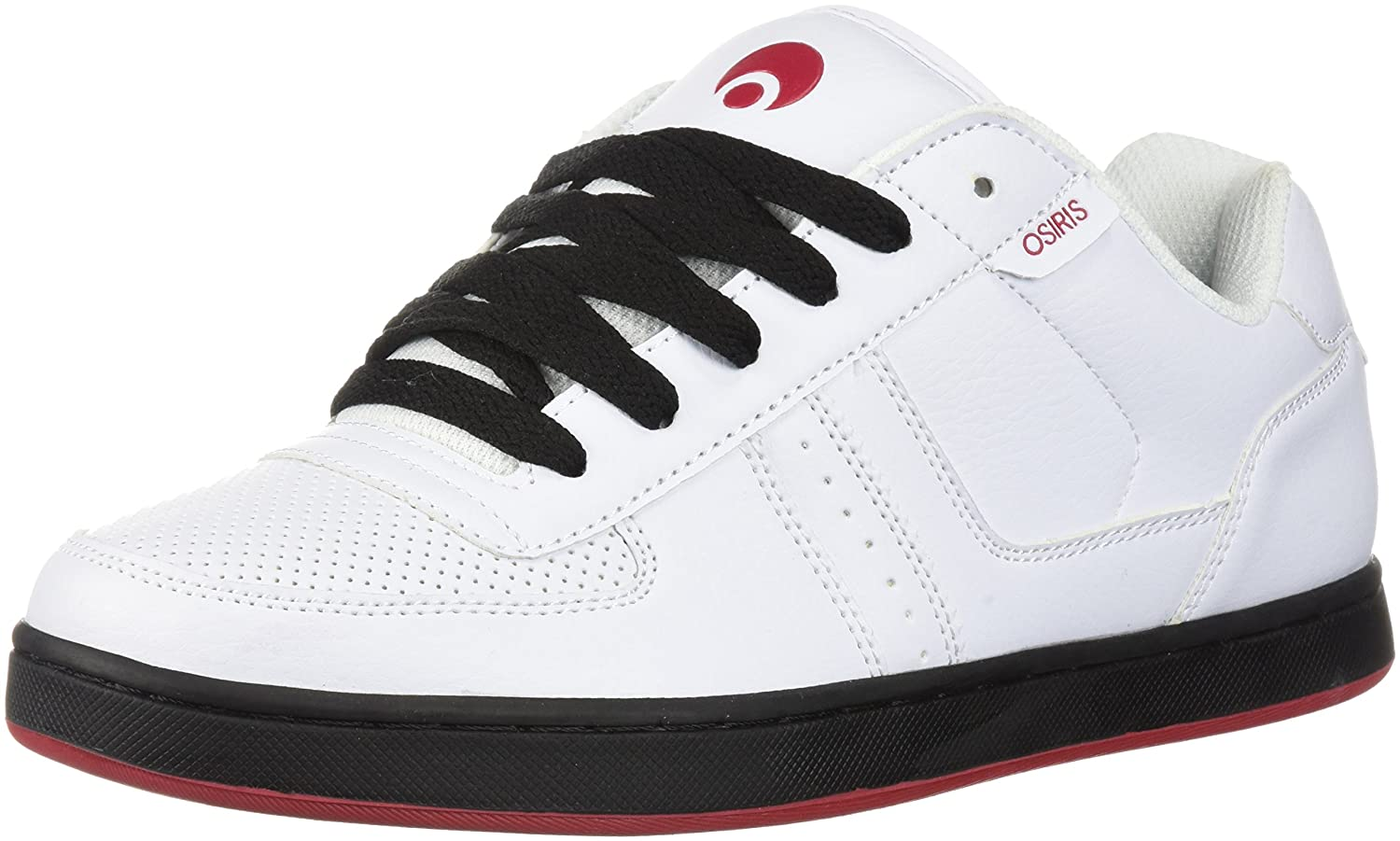 Osiris Men's Relic Skateboarding Shoe 6 D(M) US|White/Red/Black