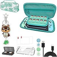 Nintendo Switch draagtas, Animal Crossing Case Kit met accessoires, draagbare Animal Crossing opberghoes met handvat…