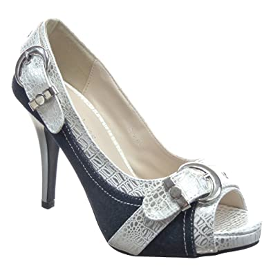 Mode Escarpin Femmes Stiletto Chaussure Kickly Sandale Cheville QosrCBtdhx