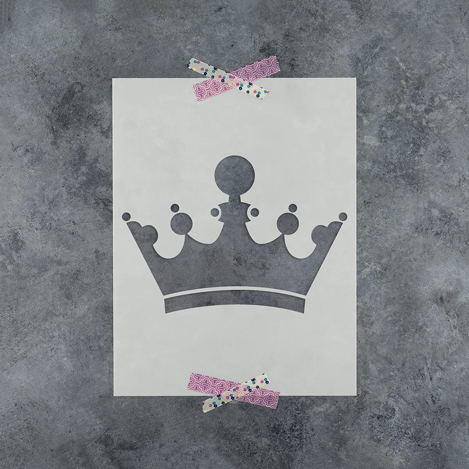 Amazon.com: King Crown Stencil Template - Reusable Stencil with ...