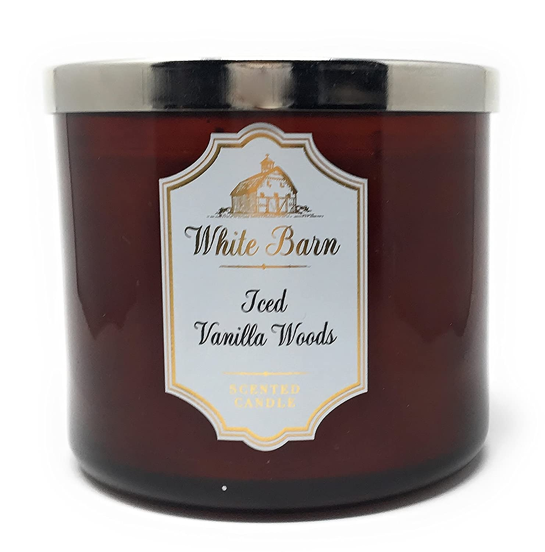 2019人気の White Barn Bath & Body B078YGXV5X Works Candle Body Scent 3 Wick 430ml Scent Iced Vanilla Woods B078YGXV5X, GreenLabel:4c9f99e0 --- egreensolutions.ca