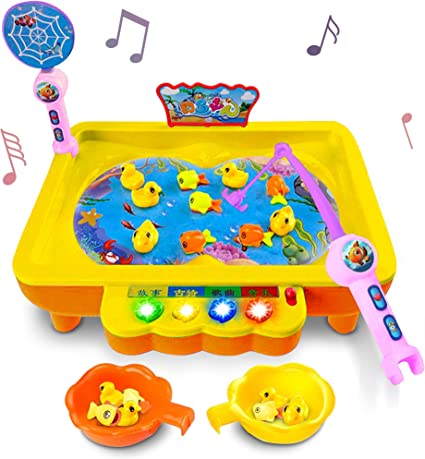 Transer Magnetic Alphabet Wooden Fishing Game Toys Birthday Gifts for Toddler Kids Boys Girls 2 3 4 Year Old Multicolor