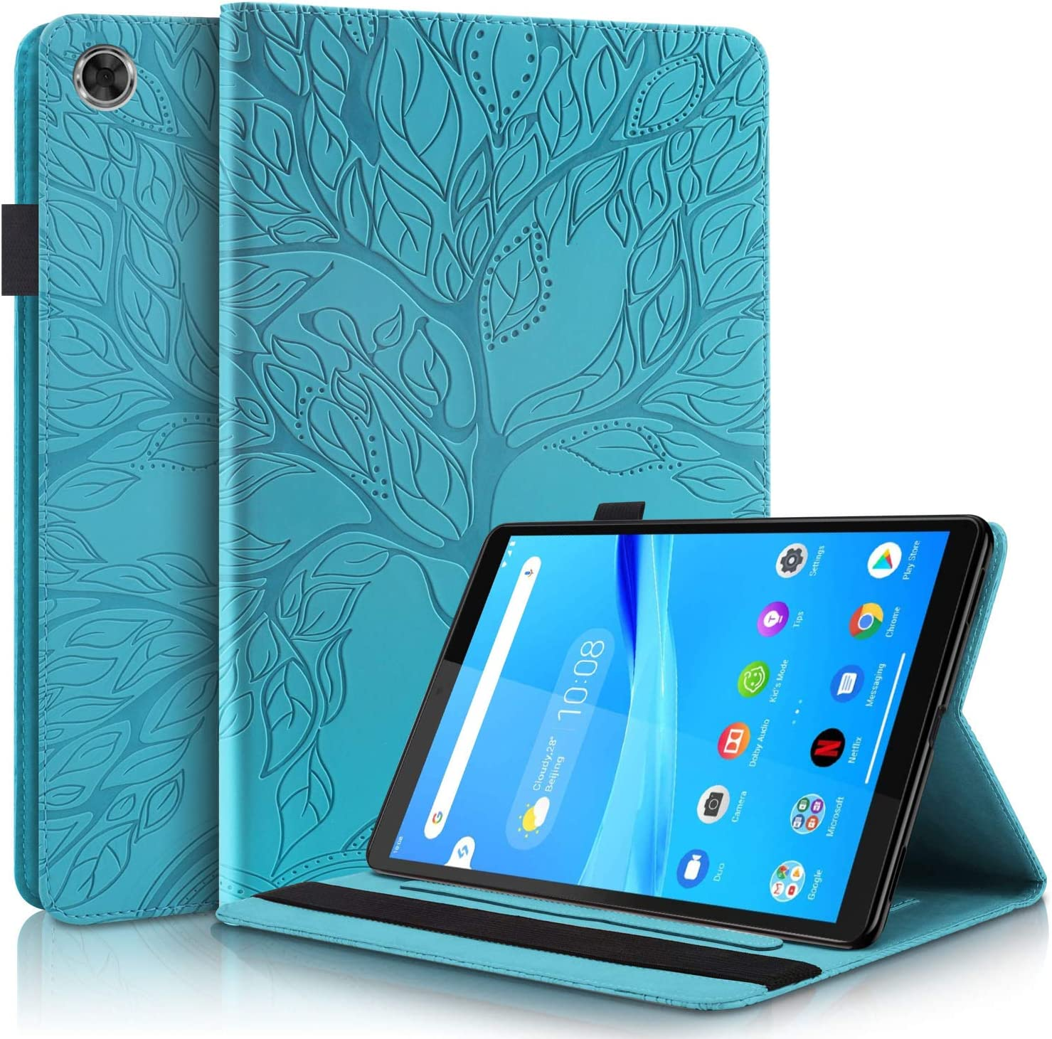 Pefcase Lenovo Tab M8 / Smart Tab M8 Case Premium PU Leather Cover Folio Stand Case Flip Wallet Shell for Lenovo Tab 8.0 inch TB-8505F / TB-8505X, TB-8505FS Tablet - Turquoise