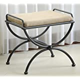 Contemporary Upholstered Vanity Stool