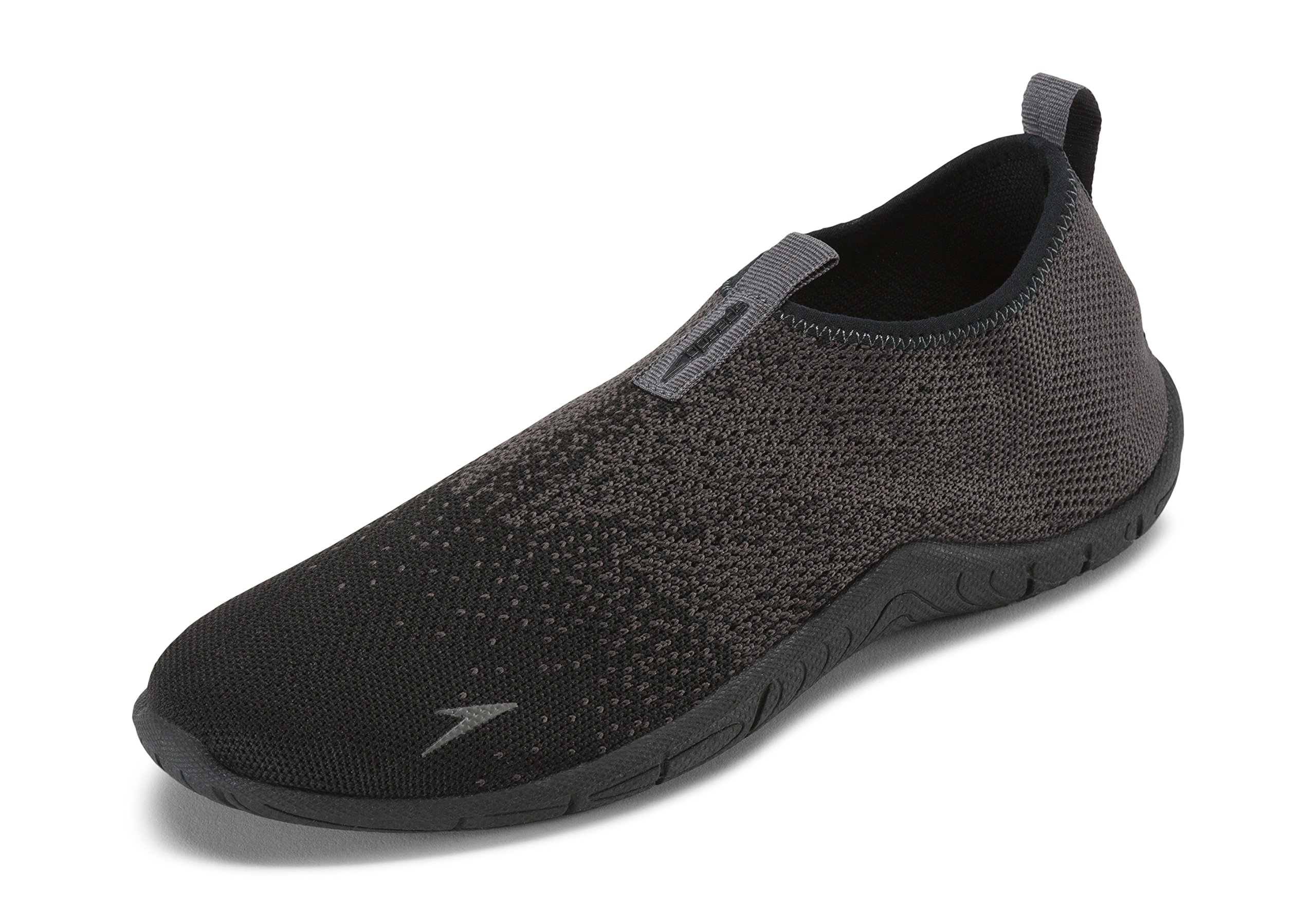 Speedo Men's Surf Knit Athletic Water Shoe, Black/Grey, 10 by Speedo