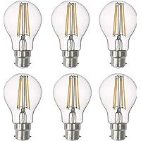SD LUX LED Light Bulb Base Classic A Lamp B22 Bayonet, 8 W 806 Lumen Filament Lamps, Replaces 75 W Filament Bulb, 2700 K…