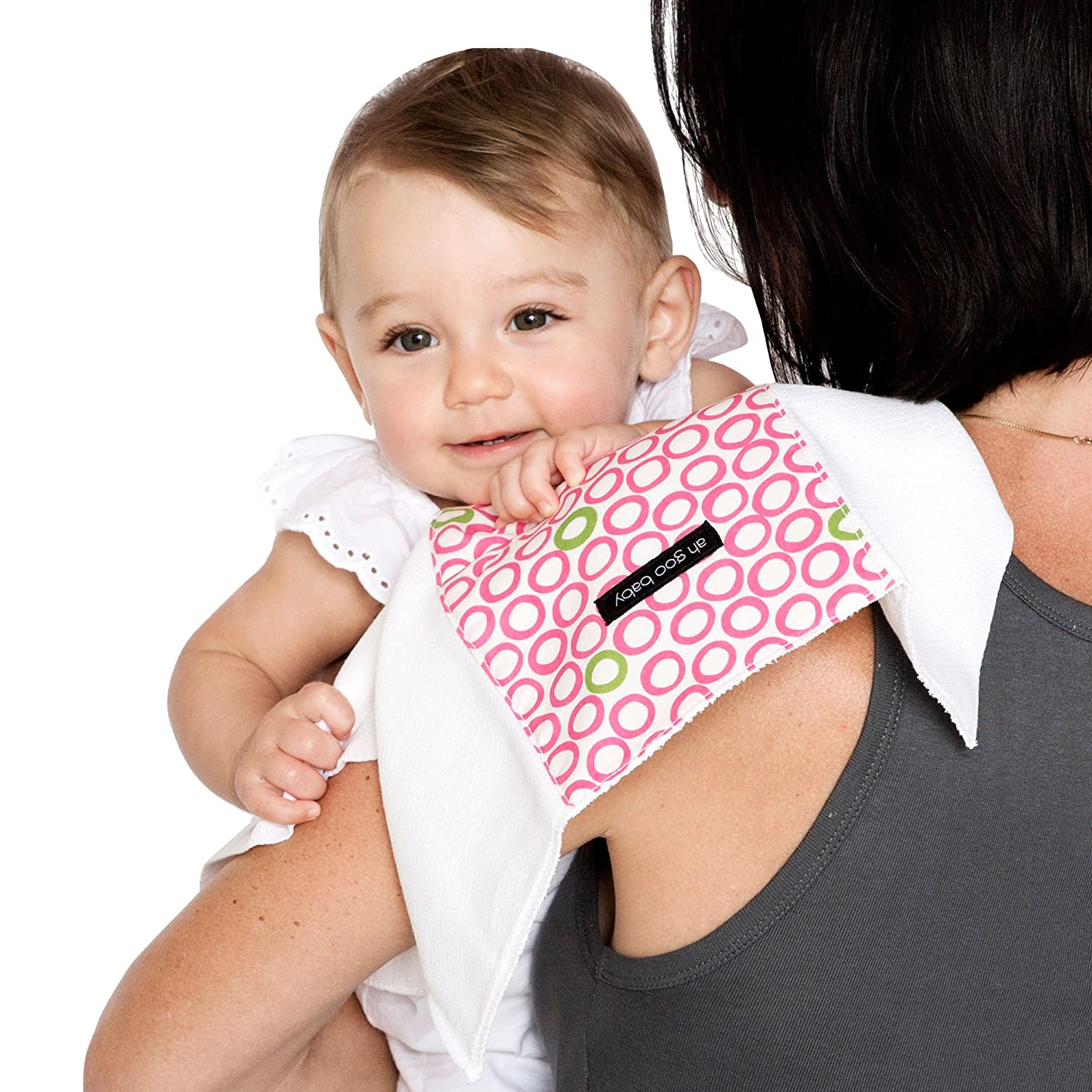 Ah Goo Baby Burp Cloth Audrey Black//White