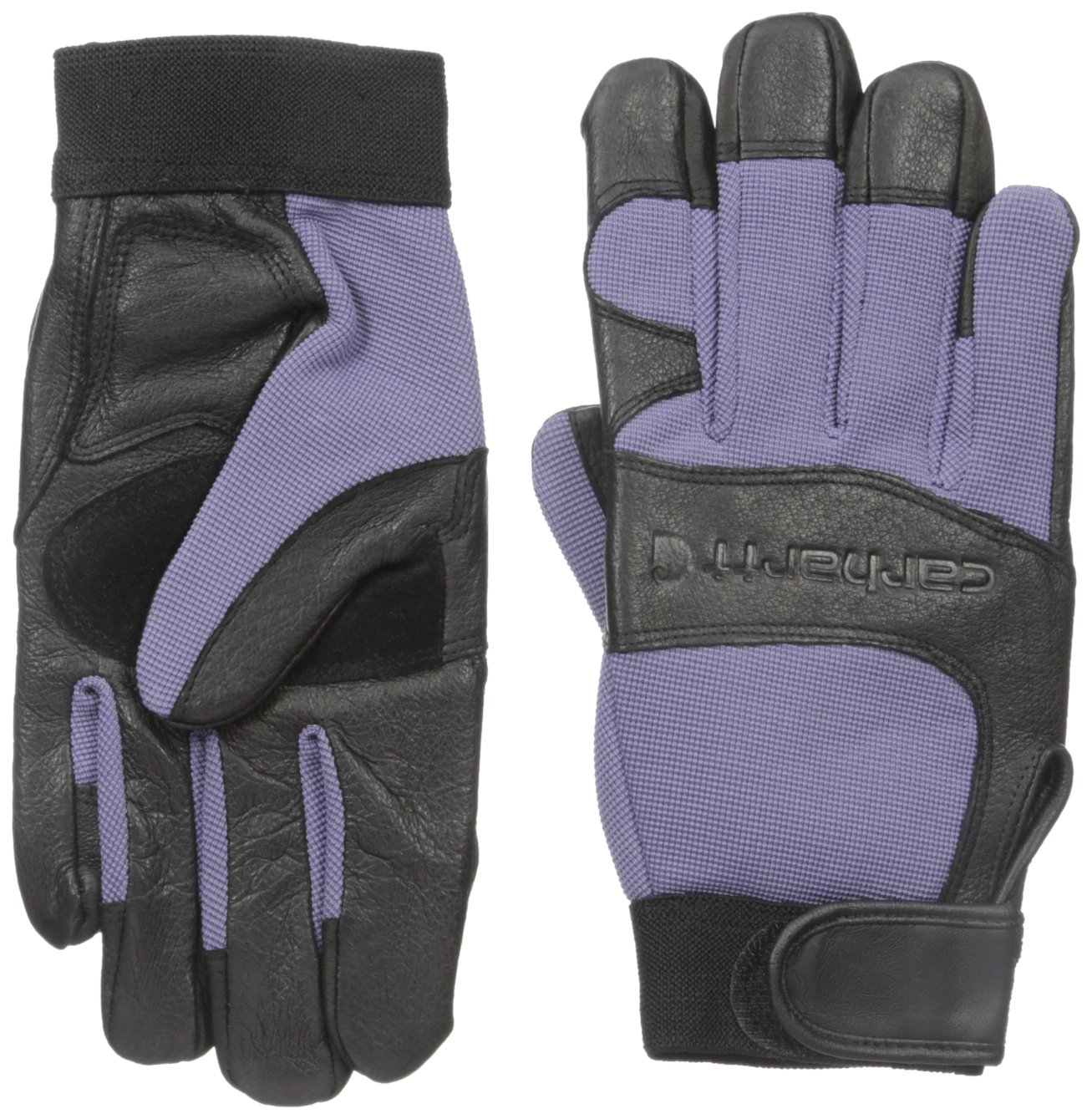 Carhartt Women's Dex II High Dexterity Work Glove with System 5 Palm and Knuckle Protection, blue dusk black, Small