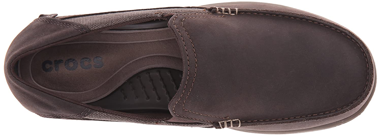 Schwarz crocs Herren Santa Cruz 2 Luxe Leather Men Slipper