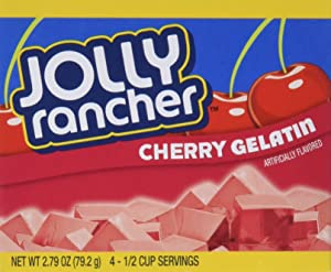 JOLLY RANCHER Cherry Gelatin Jello 2.79 oz (Pack of 4)