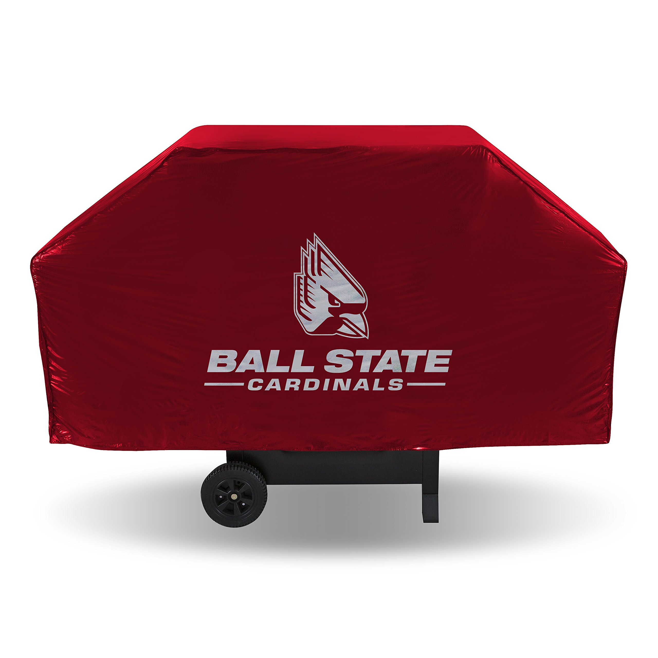 NCAA Ball State Cardinals Vinyl Grill Cover, Red