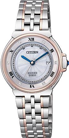 4df606f7a1 [シチズン]CITIZEN 腕時計 EXCEED エクシードユーロス ダイヤモンド・ブルーサファイア入り 高級エレガントエコ