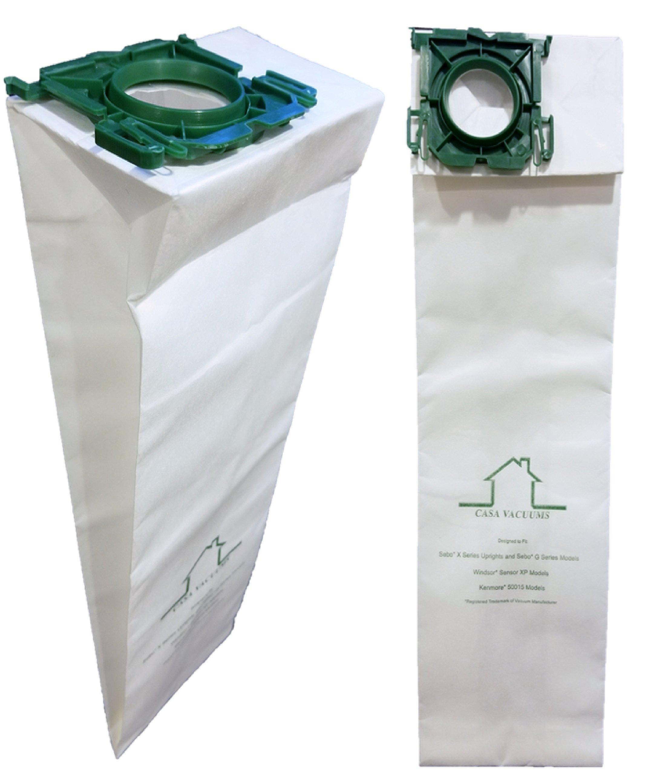 Windsor Sensor, Versamatic Plus, Sebo C G K X, & Kenmore W Premium ALLERGEN Filtration Commercial Upright Vacuum Bags, Fits 5300, 86000500, 5096Am, 6629AM, 6629ER, 6431ER & 50015, by Casa Vacuum (200)