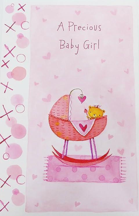 Amazon.com: Un precioso bebé niña – Felicidades – Tarjeta de ...