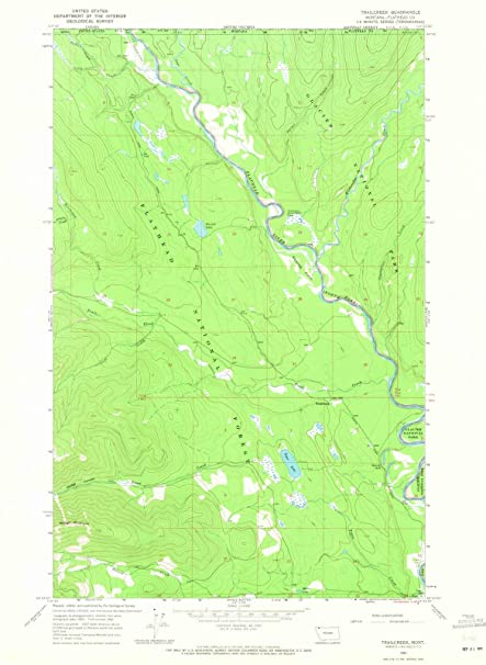 Amazon Com Montana Maps 1966 Trailcreek Mt Usgs Historical