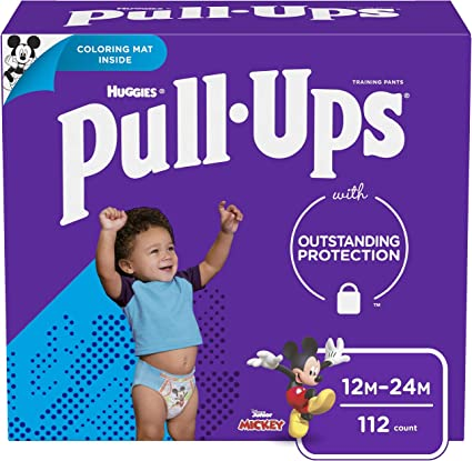 2T-3T One Month Supply 124 Ct Pull-Ups Boys Potty Training Pants Training Underwear Size 4