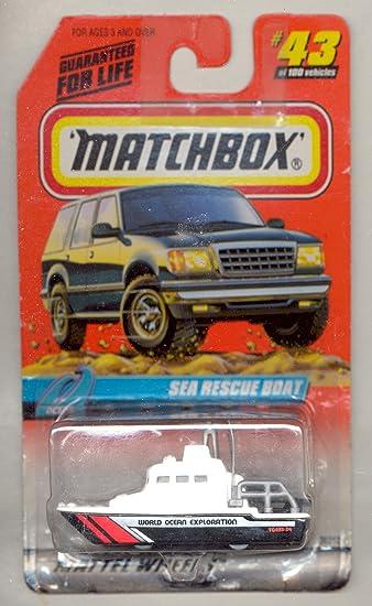 43 SEA RESCUE BOAT World Ocean Exploration 1999 Matchbox 1//64 scale diecast No
