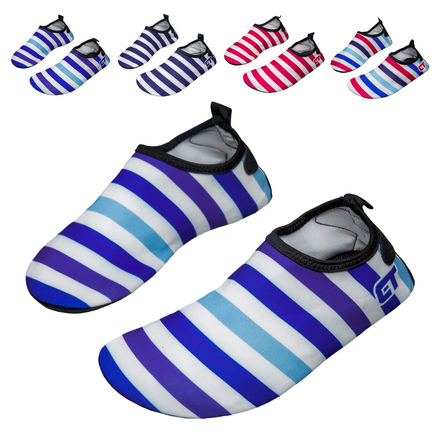 norocos Boys Lightweight Water Shoes Soft Barefoot Shoes Quick-Dry Aqua Socks Girls Beach Swimming Surf Pool Exercise