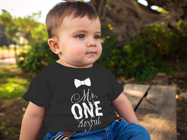 MoonWorks/® Baby T-Shirt Kurzarm Babyshirt Mr Onederful Geburtstag 1 Jahr Geschenk M/ädchen Shirt
