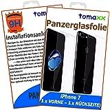 Apple iPhone 7 Panzerglas Panzerglasfolie Glasfolie Glas (1 x VORNE und 1 x RÜCKSEITE) brillante Qualität