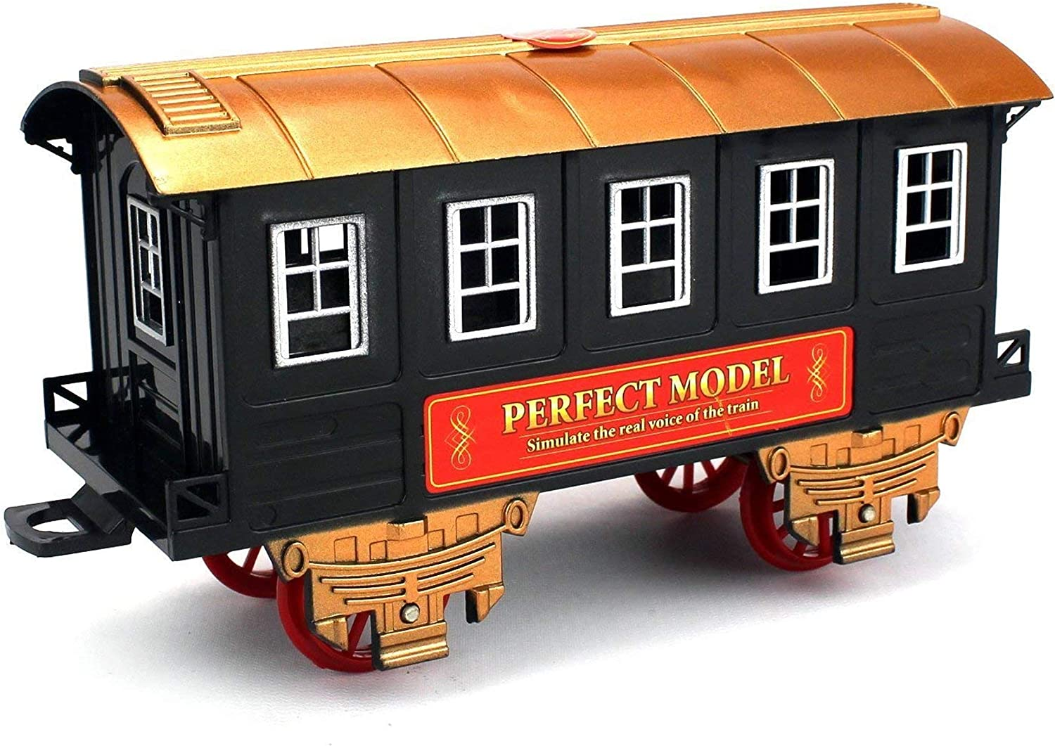 Christmas Spirit Gift for Kids Boys Girls Battery Operated Play Set Signature Lights and Sounds WGS Classic Christmas Train Toy Set Around Tree Electric Railway Train Set with Real Smoke