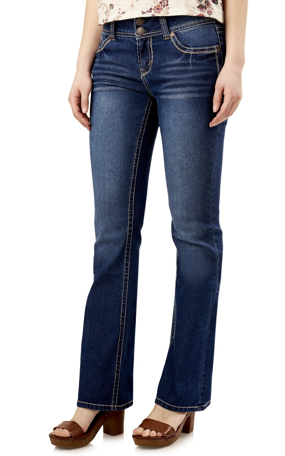 WallFlower Juniors Luscious Curvy Basic Bootcut Jeans in Addison Size:13 Long